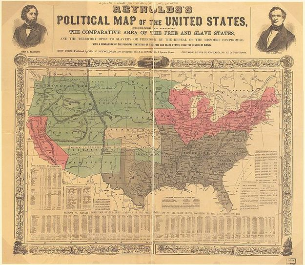 The Kansas-Nebraska Act of 1854 created the territories of Kansas and